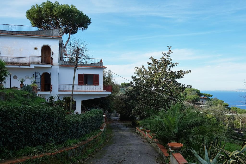 The whole villa, with its private access road