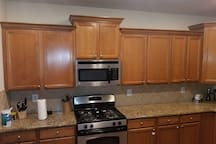 Kitchen Area with Granite counter tops