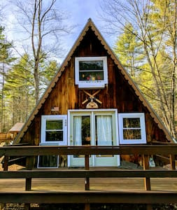 A Frame Camp in the White Mountains