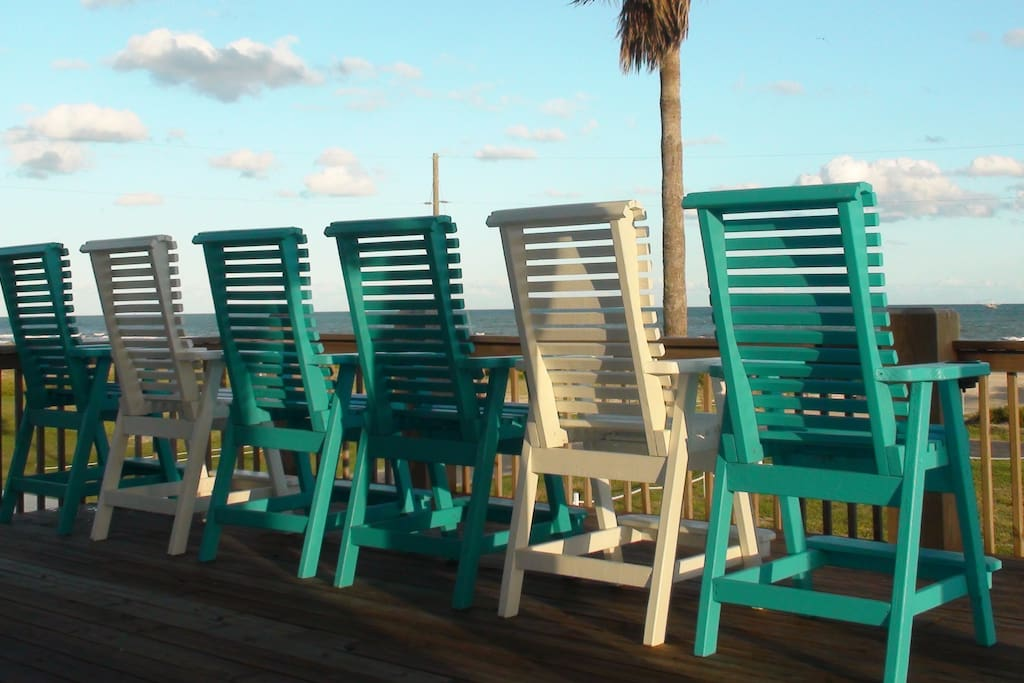 Main deck chairs for 6.