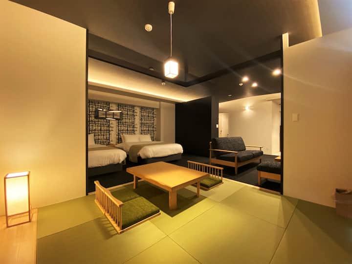 2020年3月新築OPEN!博多・天神へのアクセス良好最上階アパートメントホテル[信]