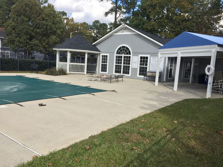 Clubhouse and pool. Club House can be rented for small parties for an additional cost.