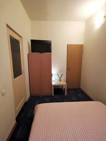 2'nd room with double bed 140 cm, LCD TV with HDMI, Wi-Fi and private bathroom