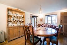 The dining room with round table that easily accommodates 6.