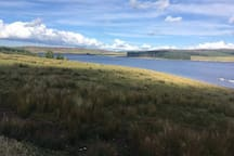 The beautiful Brenig Reservoir 8 miles from thr cottage. Perfect for fishing, walking, mountain biking or just sitting in the cafe enjoying the views.