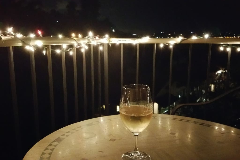 Enjoy a beverage and magnificent view on the patio.