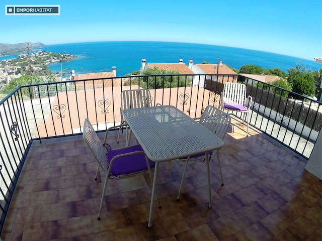 PANORAMIC VIEWS, RELAX VACATION, GOOD PRICE - Llançà - Apartment