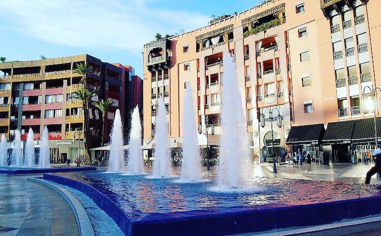 Beautiful Apt. Marrakech Plaza 98m2 w/ Wi-Fi - Marrakesch - Wohnung