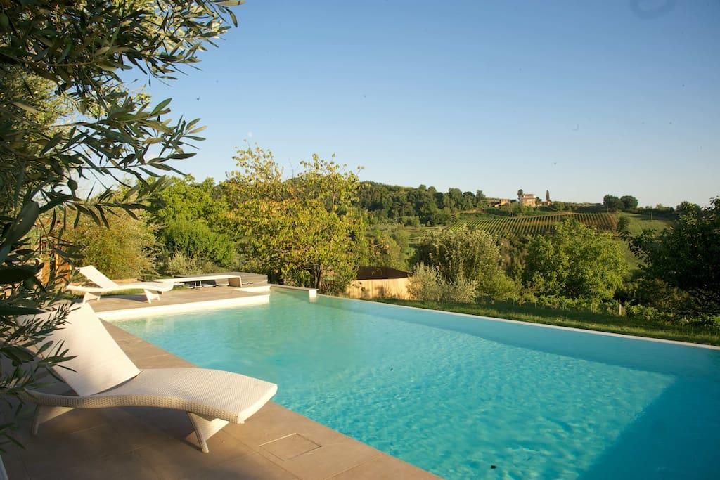 Casa poggiagrilli con piscina privata case in affitto a - B b con piscina toscana ...