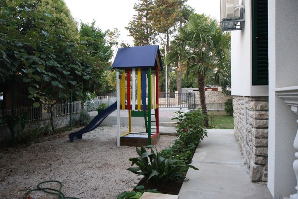 Yard and activities for children