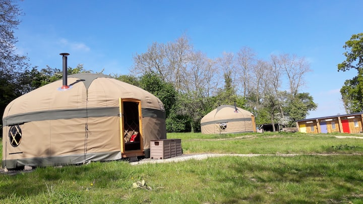 Daisy Yurt in Chipping Campden, North Cotswolds.