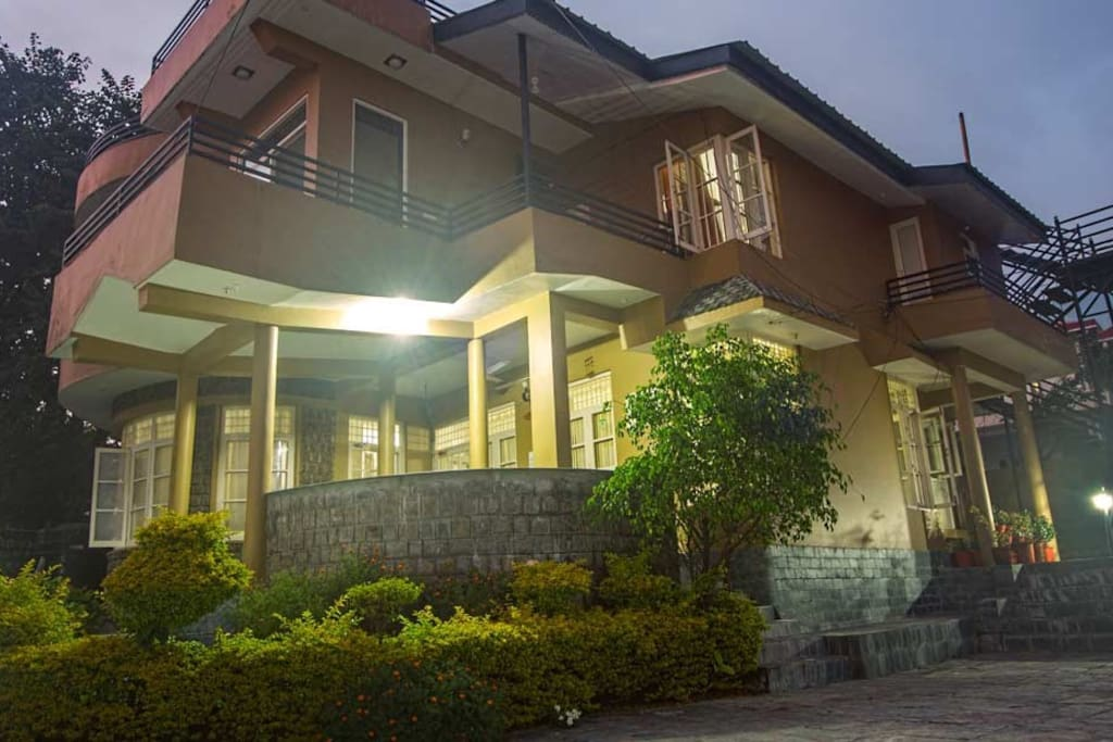 Adharshila cottage in evening