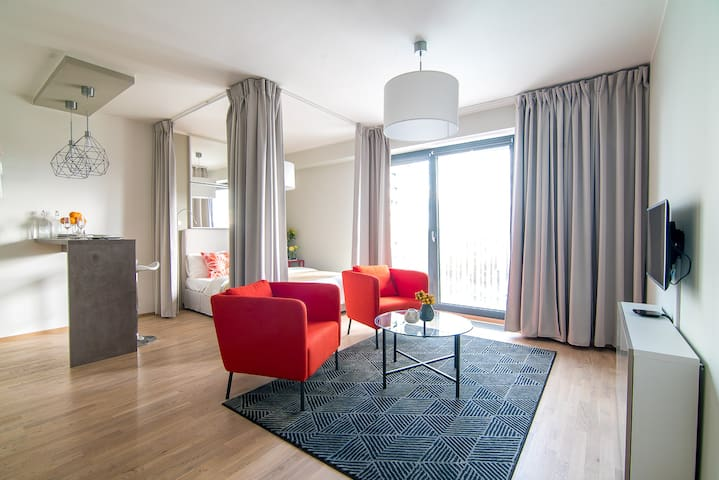 Your Prague delightful studio + free parking - Prague - Flat