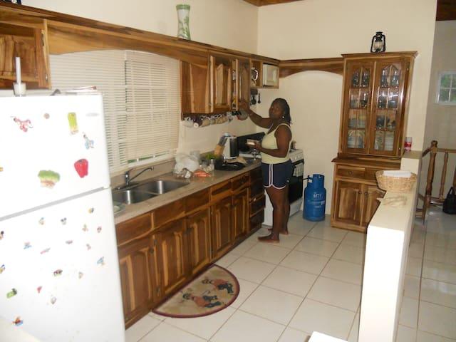 Preparing breakfast for my family