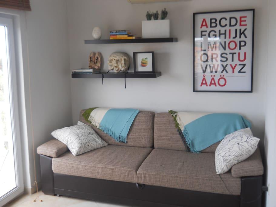 Living room - convertible sofa