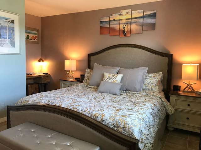Our guests love the comfort of the bed.