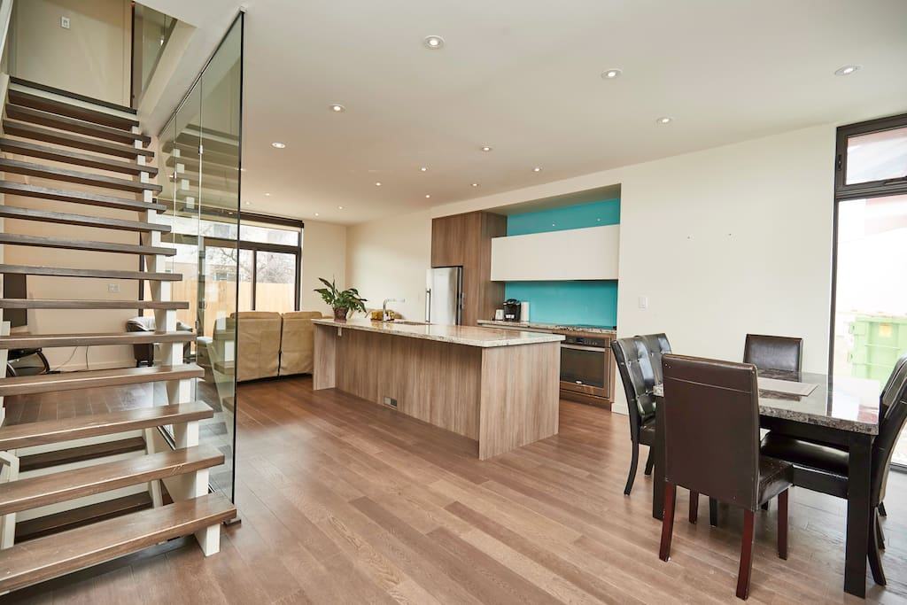 A view from the front door.  This open concept provides a lot of space for you and your guests