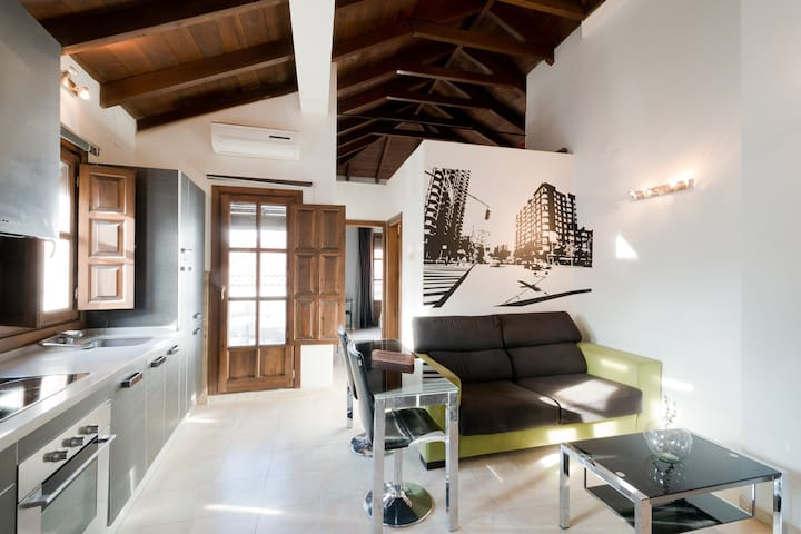 ATTIC CENTER WIFI AND PRIVATE TERRA - Granada - Appartement