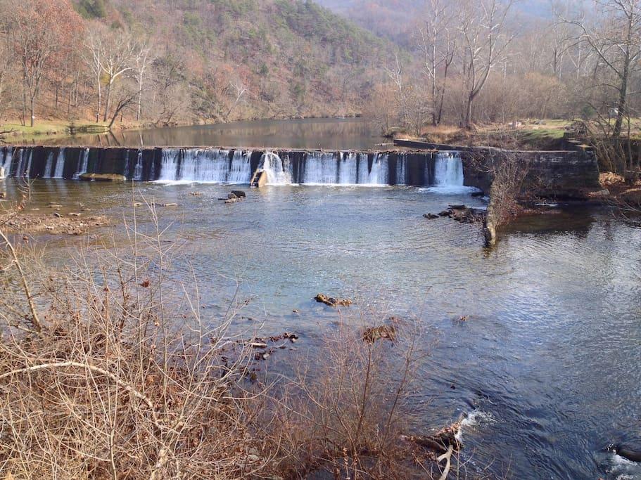 Burnshire Dam in the fall.