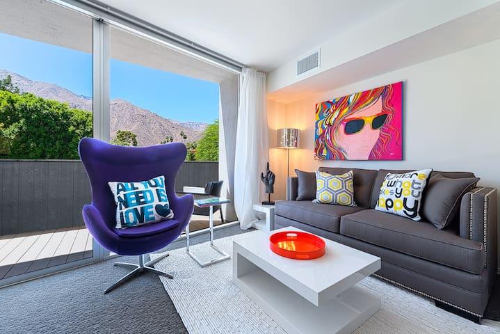 TwistPS: Modern Studio Balcony #206 - Palm Springs - Apartamento