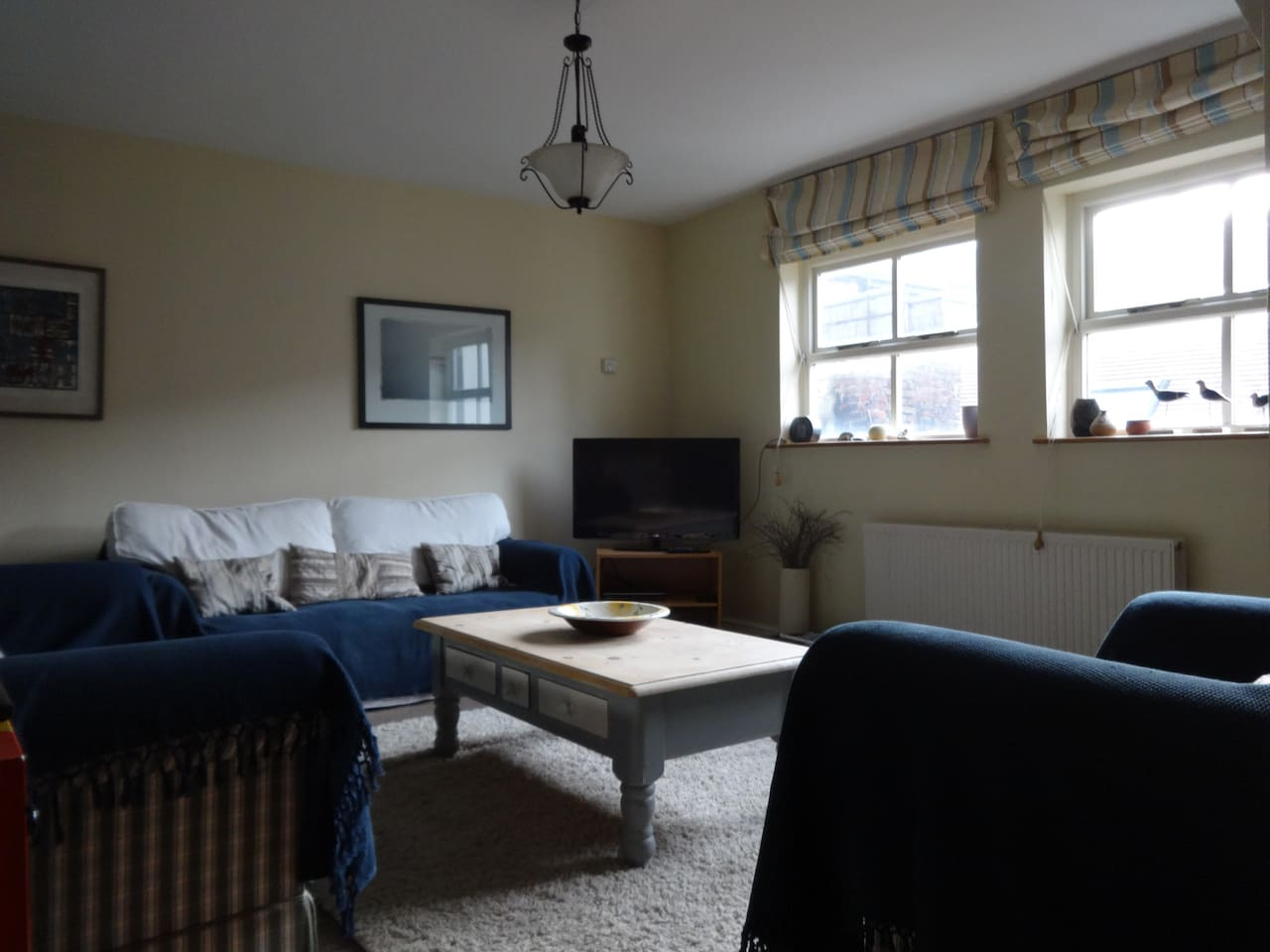 Lovely spacious first floor living area, south facing.