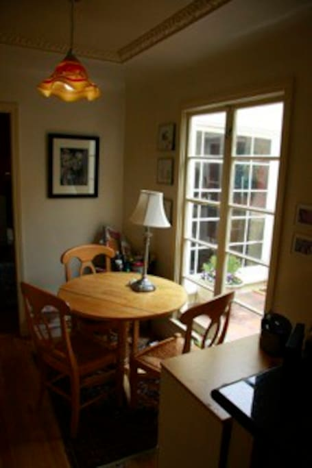 Kitchen nook, great for breakfast, and happy hour!