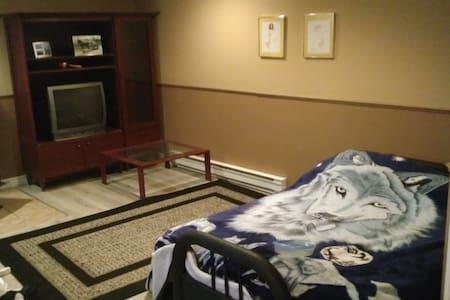 Sous-sol d'une maison avec 3 lits , salle de bain - Saint-Georges