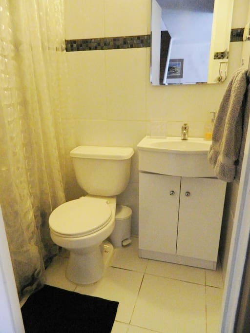 Baño privado, con ducha de agua caliente