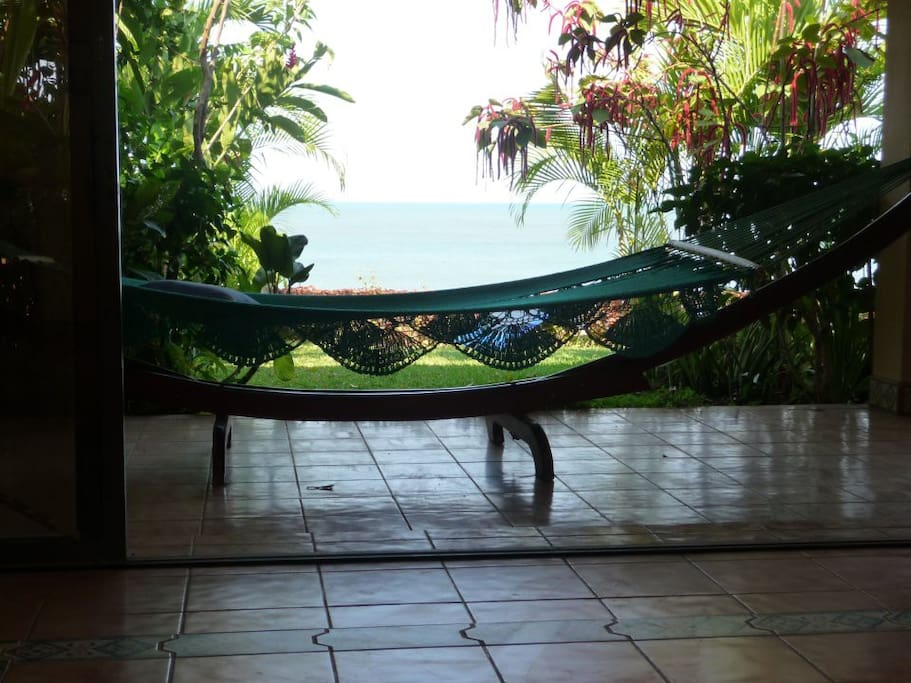 Relax with a good book in the hammock
