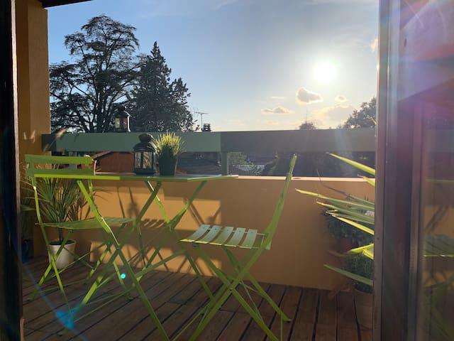 Appartement avec terrasse, proche Genève&lac Léman