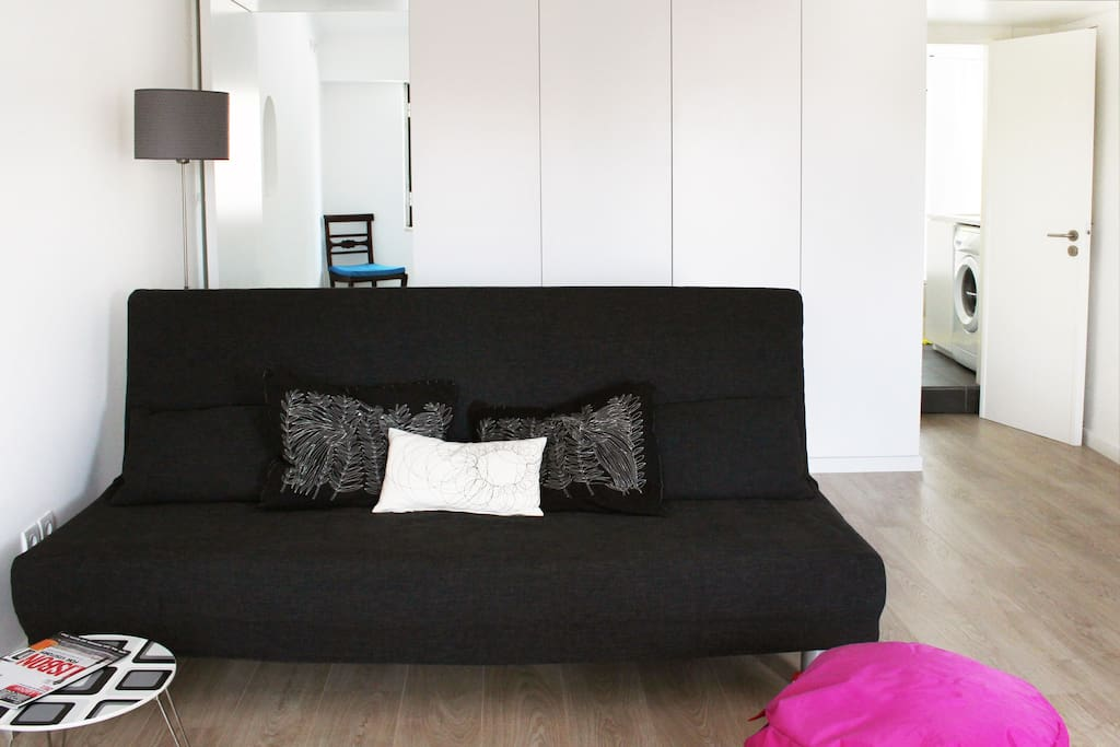 Livingroom with sofa bed