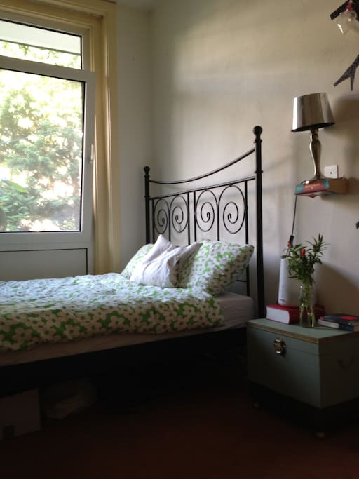 Bedroom 1, window on the garden side