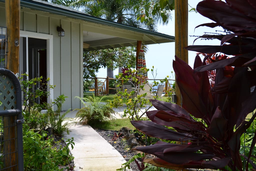 Front entry, covered lanai