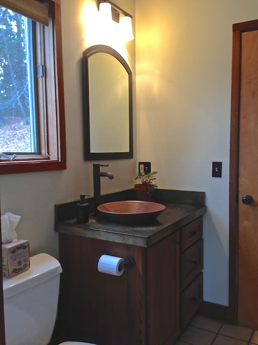 Your En Suite Bathroom (small cedar shower not shown)