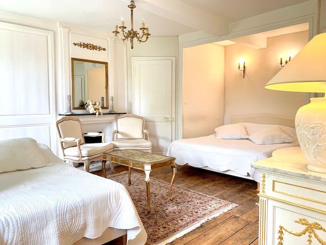 Chambre beige Manoir du XVIIIe Baie de Somme