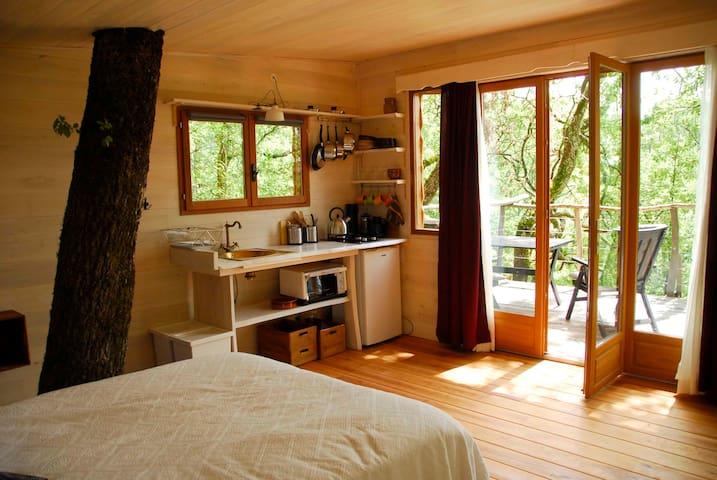 Cabane dans les arbres - Bourg-de-Visa - Boomhut