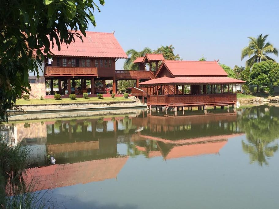 House with natural pond on 70,000 square feet of land - more then enough room for the entire family plus friends!