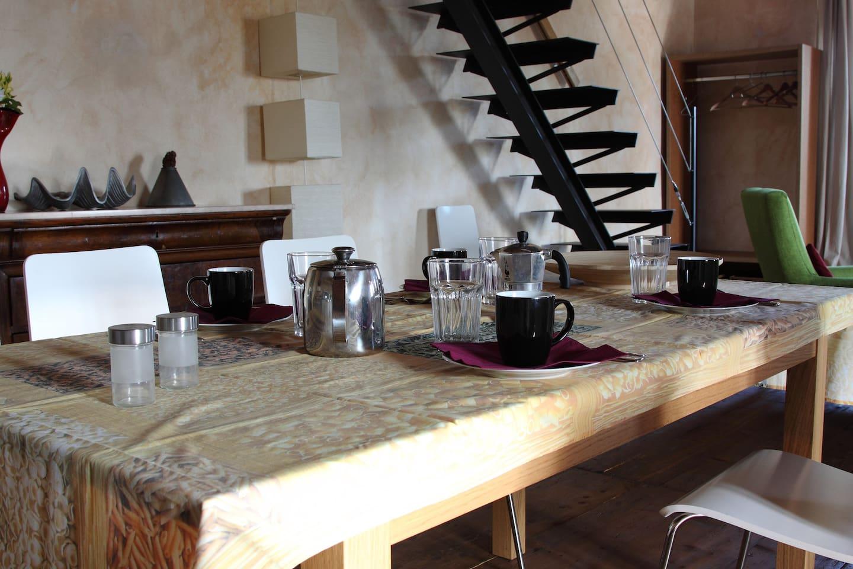 studio La Colombara living-dining room