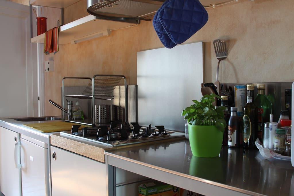 studio La Colombara kitchenette