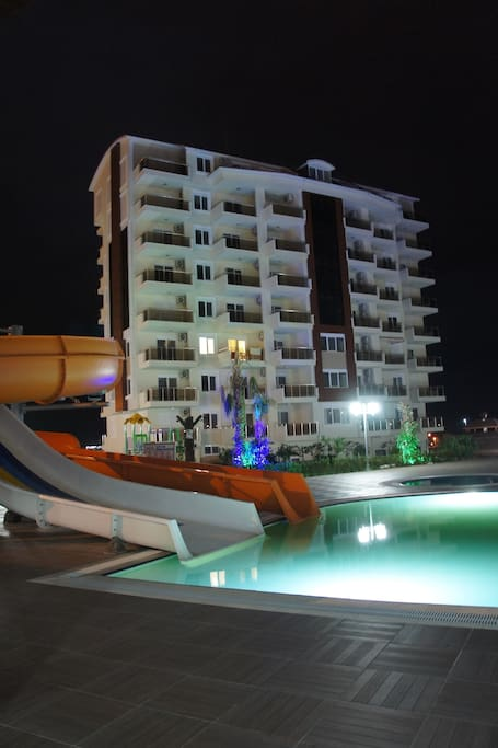 The complex night view