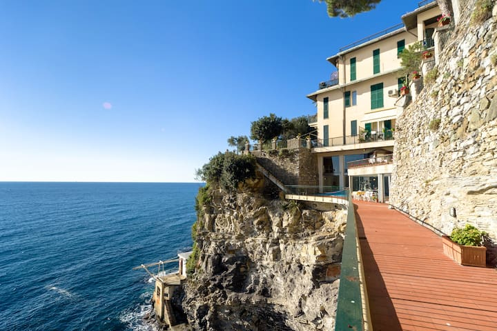 Perched on the rocks with pool Pieve Ligure - Pieve Ligure - Apartamento
