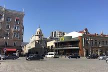 Marjanishvili Square! Center Of City! best place!