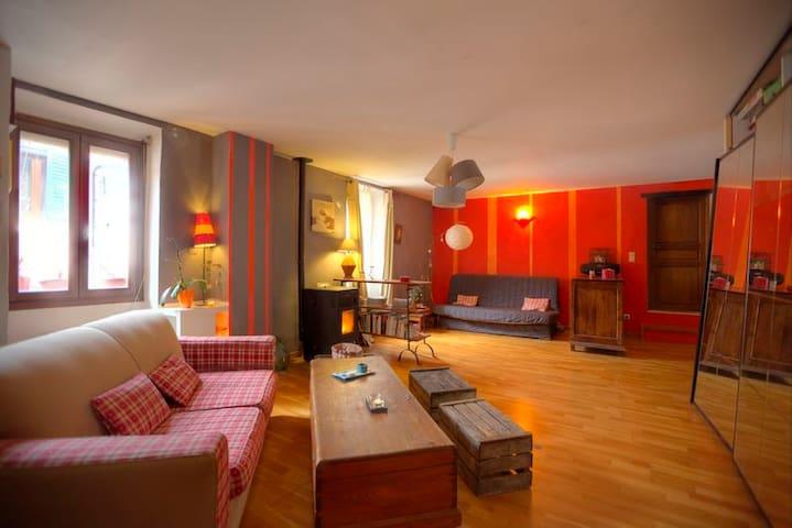 Belle chambre claire cosy et calme - L'Escarène - Hus