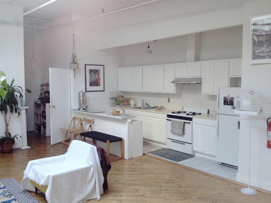 Beautiful large open kitchen.