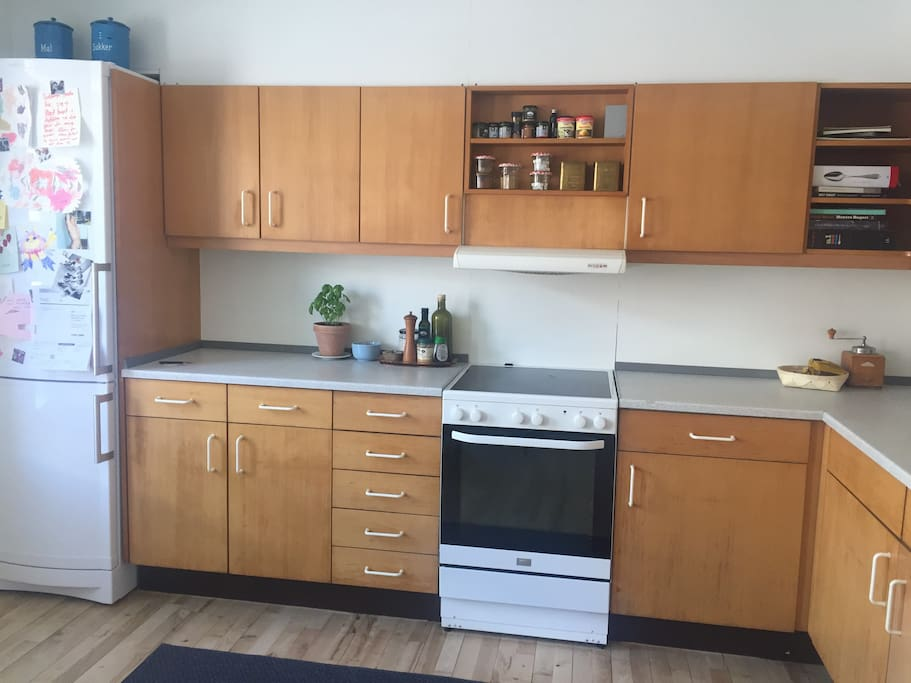 Kitchen with a dishwasher