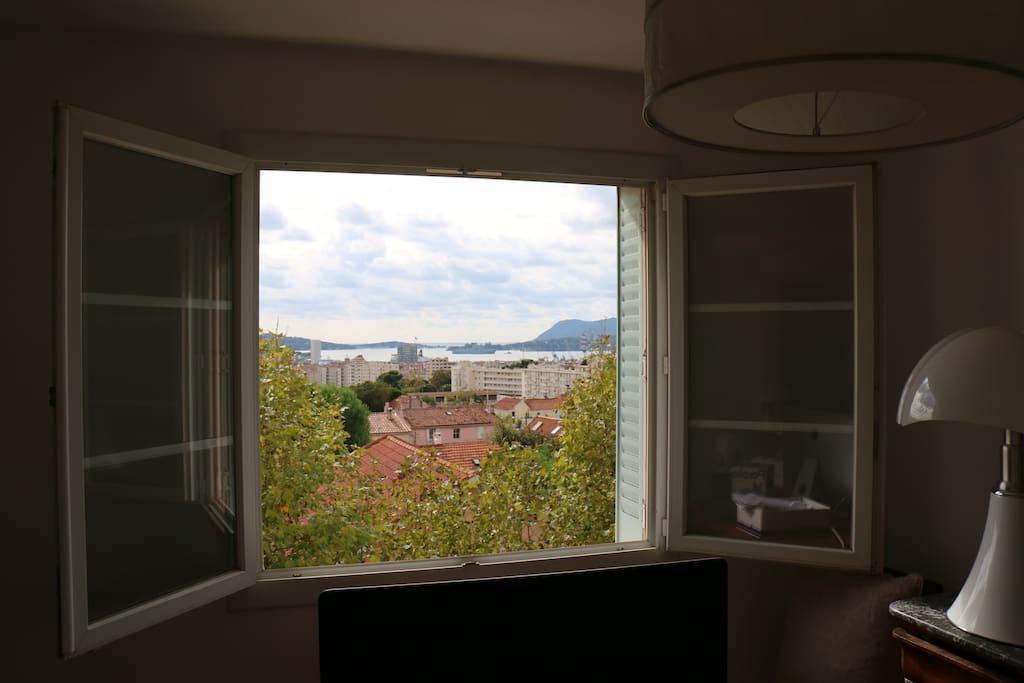 """La vue du coin """"salle à manger"""" en fait mon bureau ;))"""