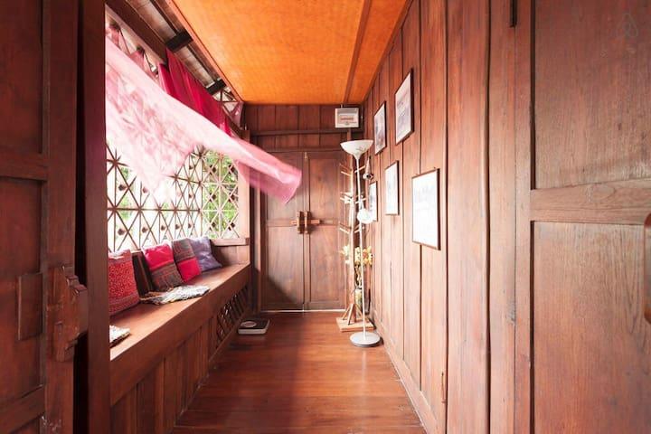 清迈兰那风情,七十年历史柚木小楼