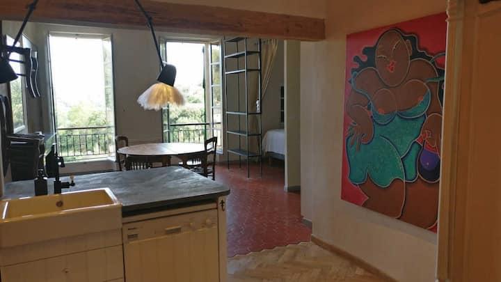 Appartement avec l'art.