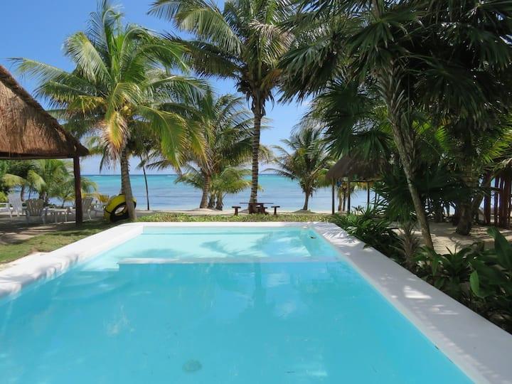 Casa Mandala, turqouise beachfront 5 bedroom house