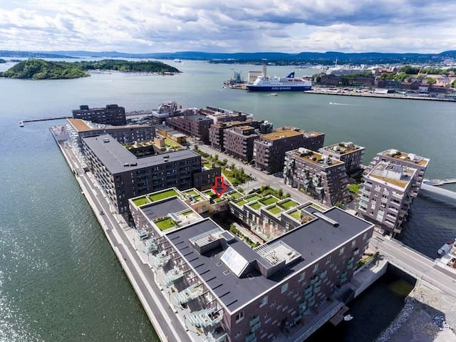 Central seafront apartment with private terrace - Oslo - Lakás